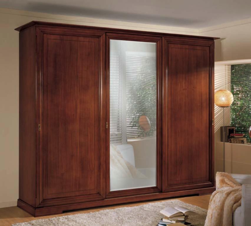 Armadio 3 ante scorrevoli con specchio df mobili classici - Ikea armadio con specchio ...