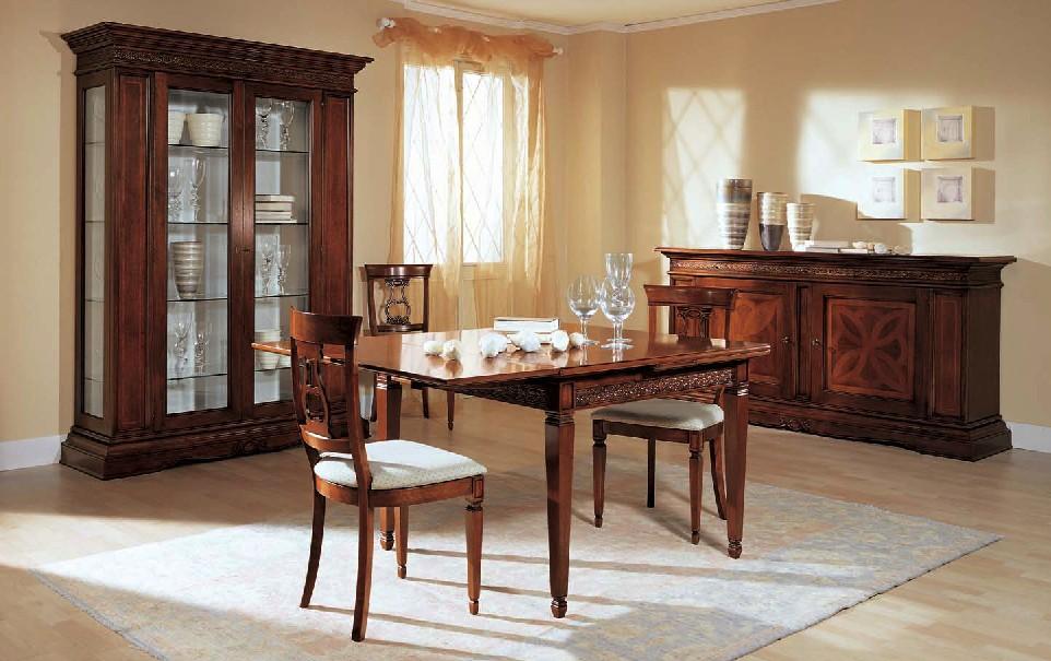 Sala con ante con intarsio df mobili classici - Mobili per sala classici ...