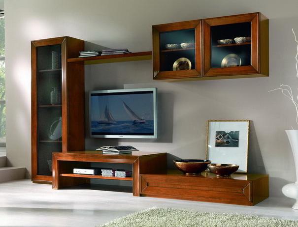 Parete soggiorno con anta telaio componibile df mobili for Parete soggiorno componibile