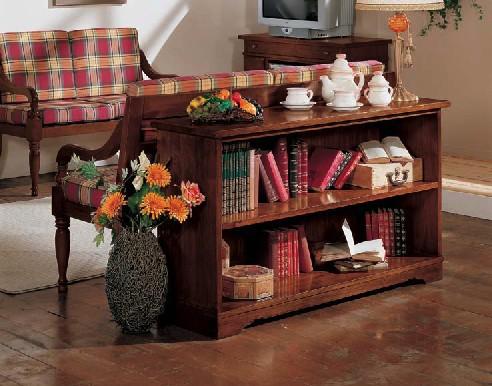 Libreria retrodivano df mobili classici for Salotto con libreria