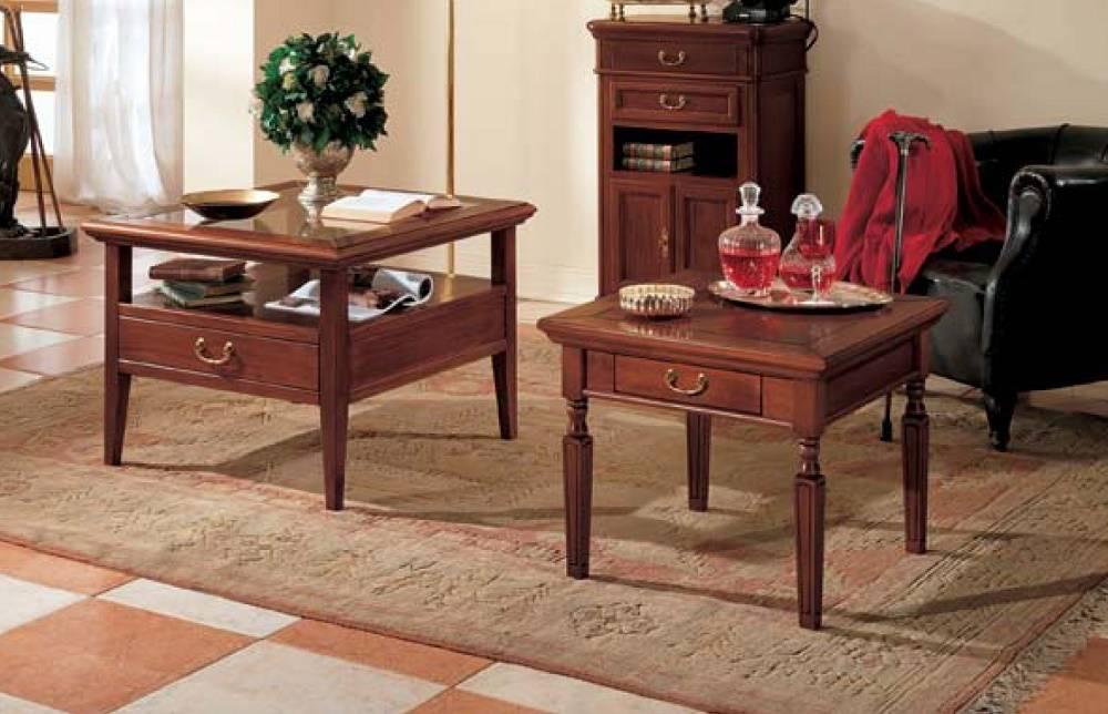 Tavolini quadrati piano in legno piano in vetro df for Tavolini in legno e vetro