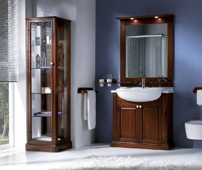 Mobile bagno legno specc vetrina cassettiera df mobili - Mobili bagno classici legno ...