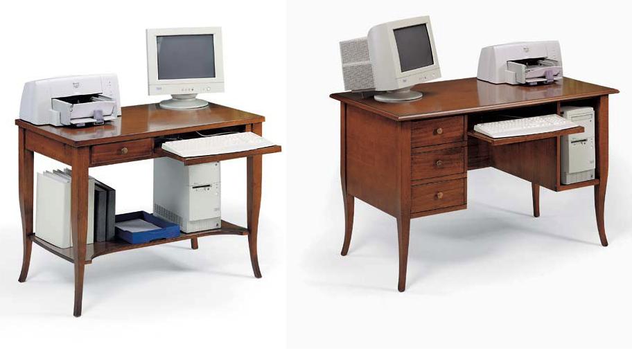Scrivania porta computer con porta tastiera u2013 df mobili classici