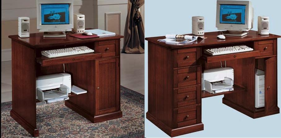 Scrivania Porta Computer.Scrivania Porta Computer Con Porta Tastiera