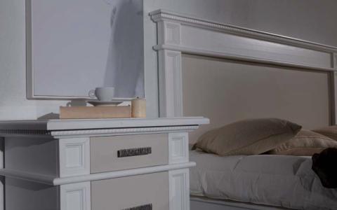 Camera letto con testata imbottita o liscia df mobili - Letto tappezzato ...