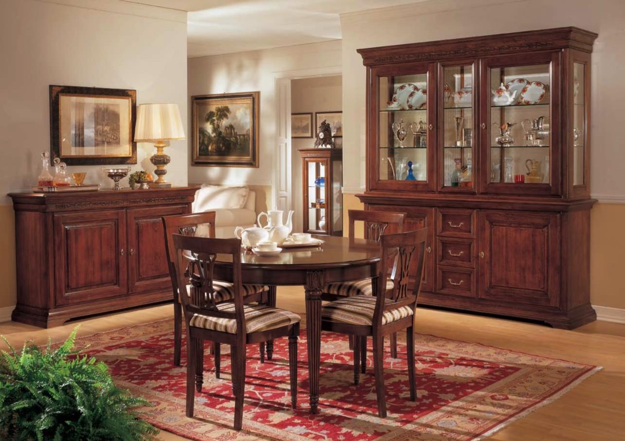 Sala con intarsio df mobili classici - Mobili per sala classici ...