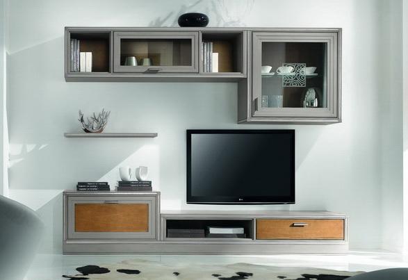 Parete soggiorno anta riquadra componibile df mobili for Parete soggiorno componibile