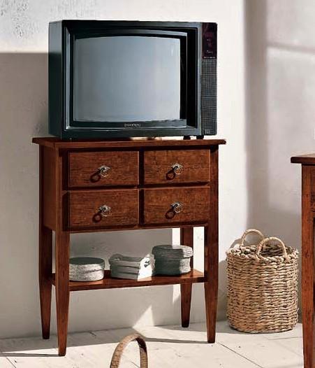 Porta tv aperto 1 ripiano 4 cassetti df mobili classici - Ripiano porta tv ...