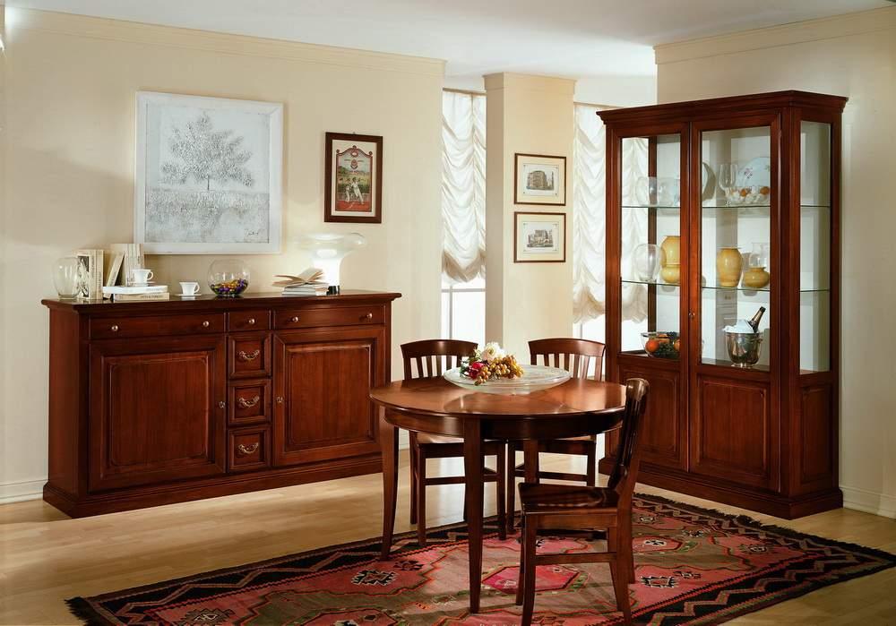Sala con anta a telaio df mobili classici - Mobili per sala da pranzo classici ...