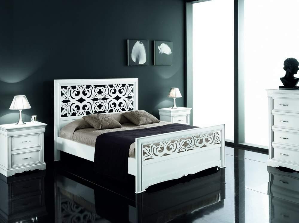 Camera da letto letto con testiera traforata df mobili for Mobili classici