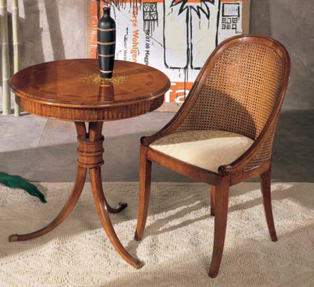 Tavolino tondo fiocco con poltroncina pozzetto df mobili for Poltroncina salotto