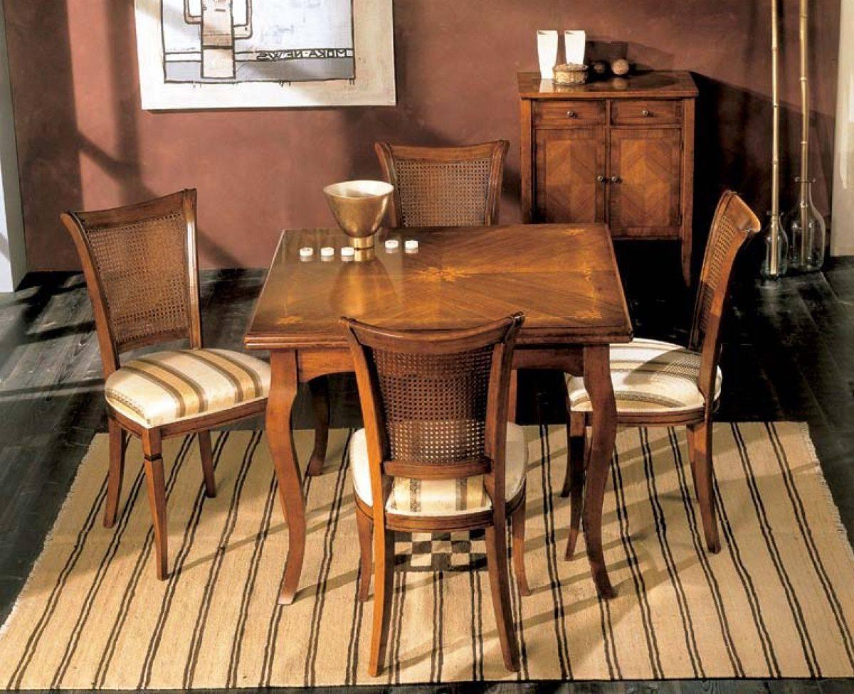 Tavolo a libro intarsio edera c sedia parigina df mobili for Tavolo a libro