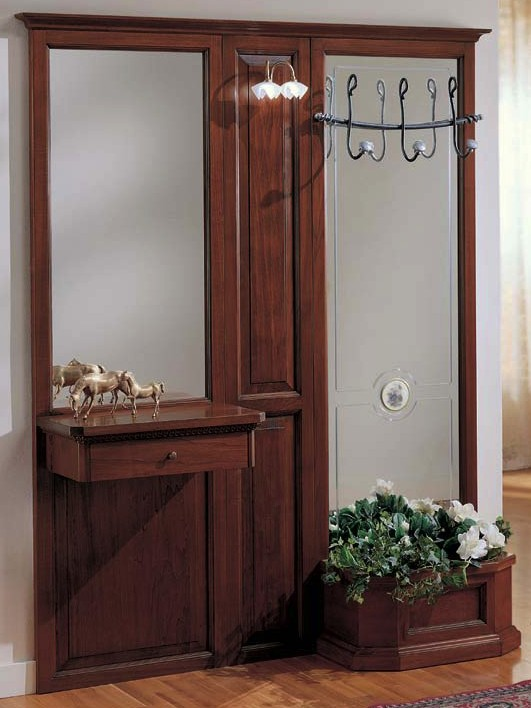 Parete ingresso 1 cassetto e fioriera df mobili classici - Porta abiti ingresso ...